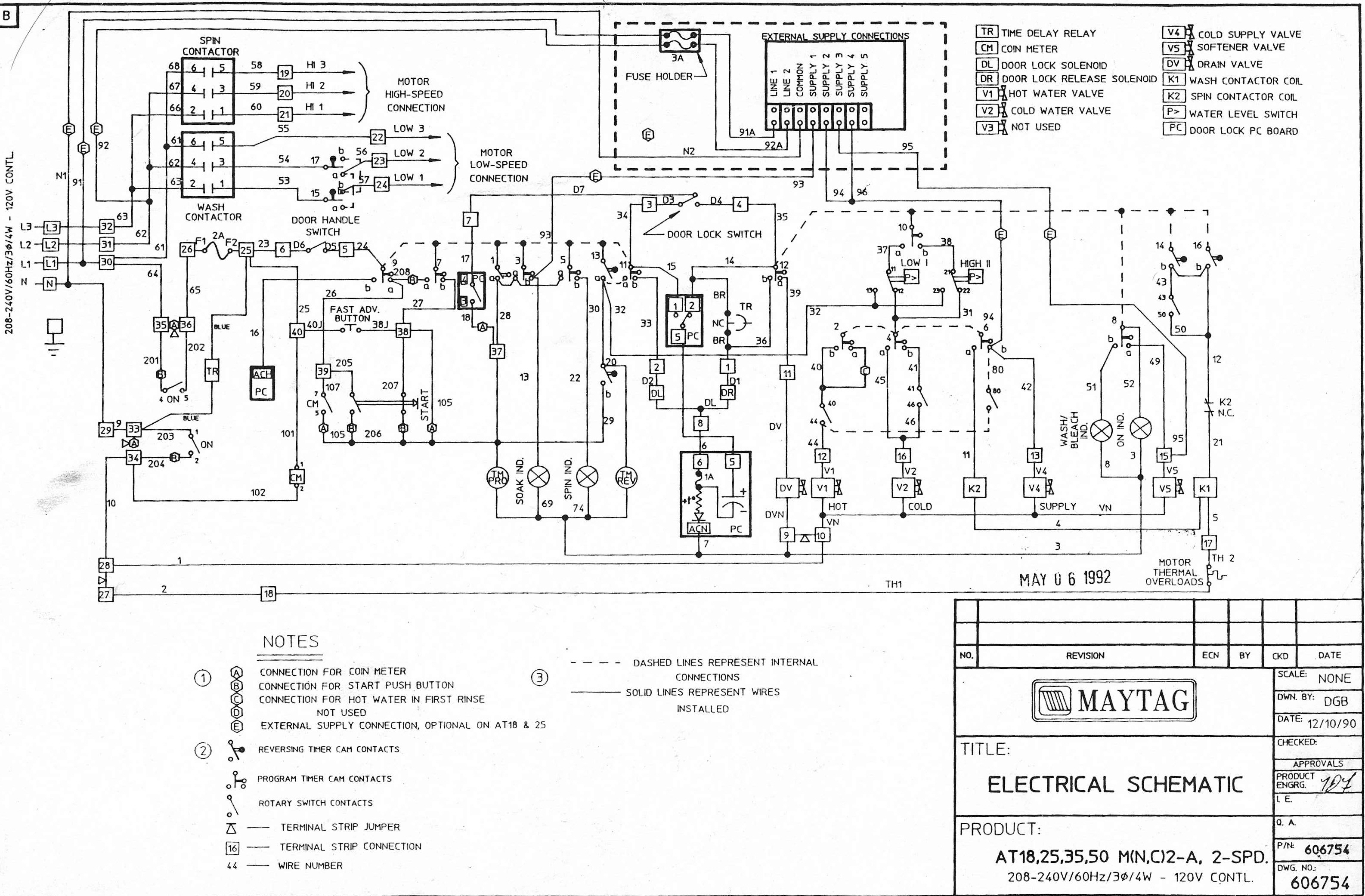 unimac washer wiring diagram